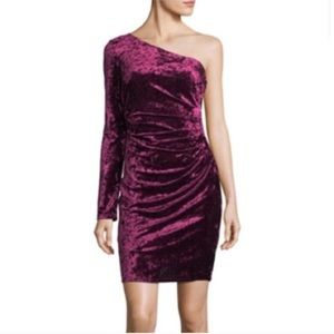 Eliza J NWT Velvet One Sleeve Bodycon Mini Dress 4
